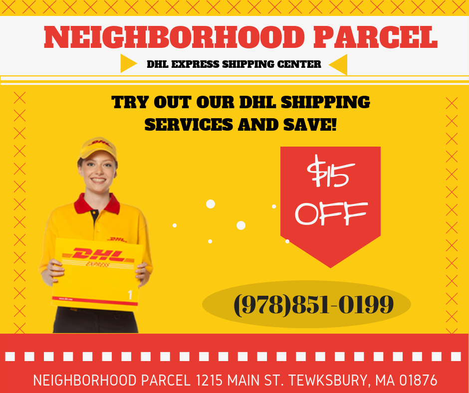 DHL Boston MA Discount Coupon